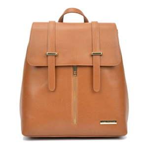Hnědý dámský kožený batoh Sofia Cardoni