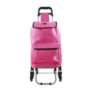 Růžová nákupní taška na kolečkách Hero Atlas, 30 l