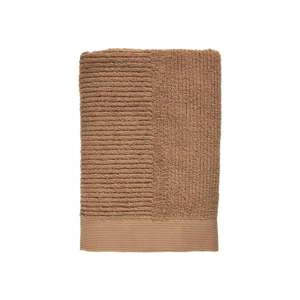 Jantarově hnědá osuška ze 100% bavlny Zone Classic Amber, 70x140cm
