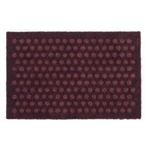 Tmavě vínová rohožka tica copenhagen Dot, 40x60cm