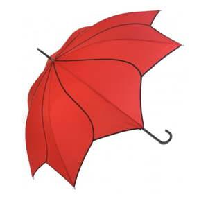 Červený holový deštník Windmill, ⌀105cm