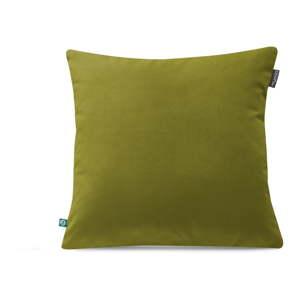 Zelený povlak na polštář Mumla Velour, 45 x 45 cm