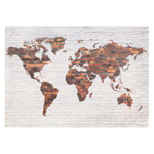 Velkoformátová tapeta Bimago Brick World Map Wall, 400 x 280 cm