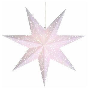 Bílá světelná dekorace Best Season Romantic Star, výška 54 cm