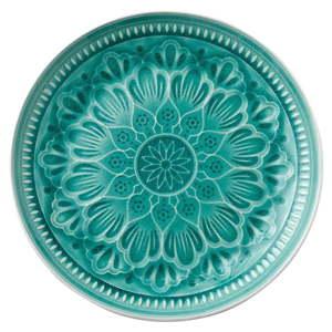 Zelený kameninový talíř Ladelle Catalina, ⌀27,7cm